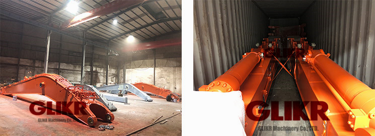 June 13th, 2019: We successfully shipped out 2x45' containers of EX1200-20.5M-Long Reach Boom to Singapore for dredging work.