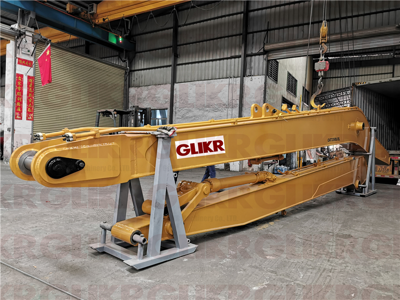 MAR. 15th, 2021: Container Loading for 3 sets of long reach arm and boom-CAT336-CAT320