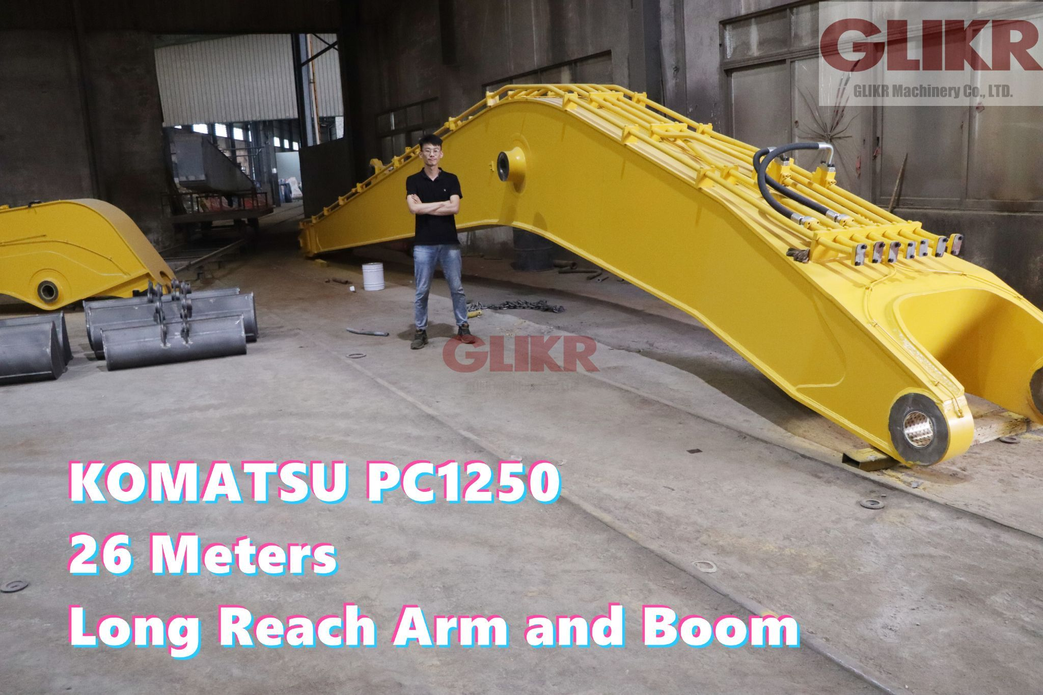 Komatsu PC1250 26 Meters Long Reach Arm and Boom